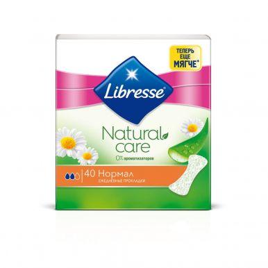 LIBRESSE ежедневные прокладки Natural Care Normal 40шт