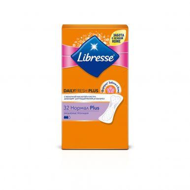 LIBRESSE ежедневные прокладки DAILYFRESH Normal с мол.кисл. Plus 32 салф.