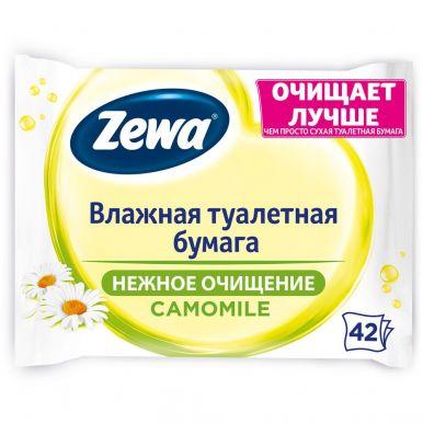 ZEWA туалетная бумага влажная 42 листа Ромашка