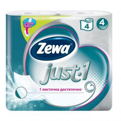 ZEWA JUST 1 туалетная бумага 4сл. 4шт