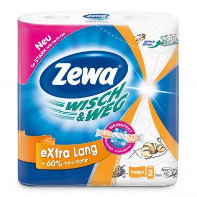 ZEWA полотенце кухонное WISCH & WEG Design 2шт