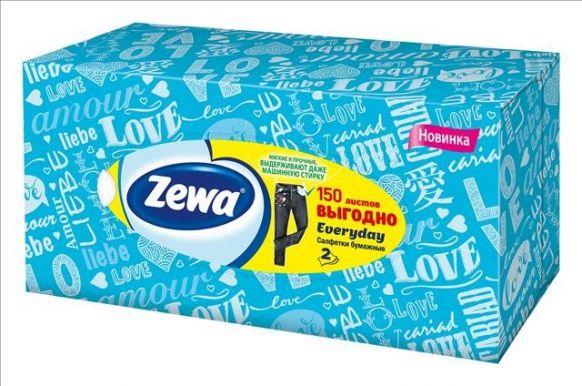 ZEWA салфетки Everyday Белые 2-х сл. 150шт