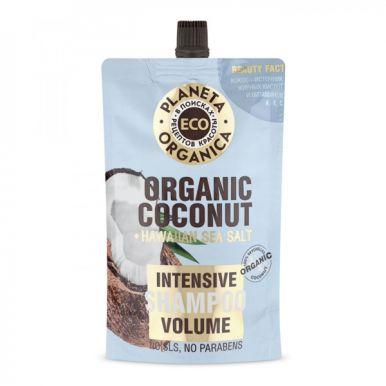PLANETA ORGANICA Шампунь для объема волос Organic coconut дой-пак 200мл.