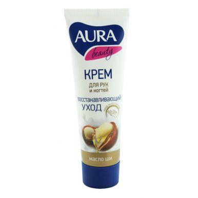 AURA BEAUTY Крем для рук восстанавливающий с маслом ши туба 75мл КК/24__