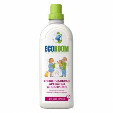 EcoRoom Средство универсальное моющее д/стирки белья биоразлагаемое , 1000мл