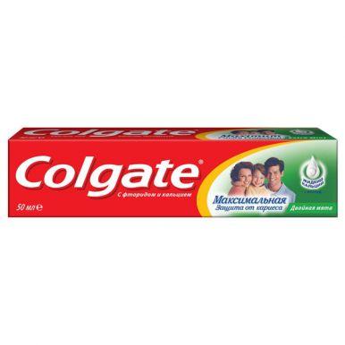 COLGATE FCN89273 зубная паста Максимальная защита от кариеса Двойная мята, 50 мл