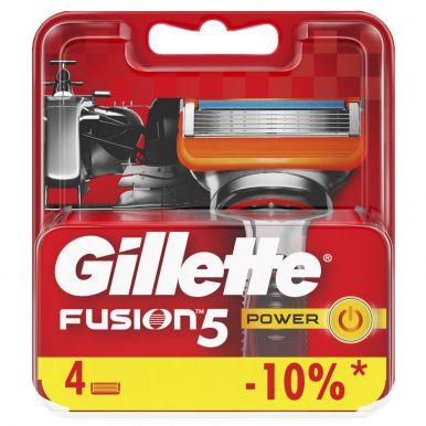 GILLETTE кассеты FUSION POWER 4шт (095/246)