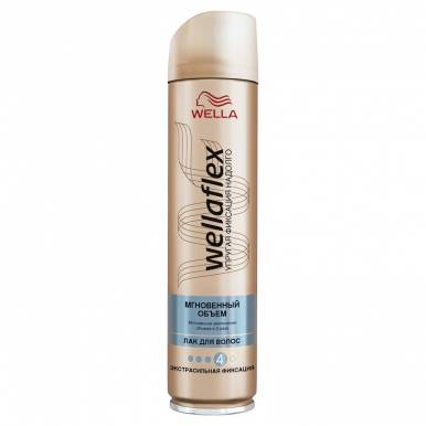 Wellaflex лак для волос Мгновенный объем экстрасильной фиксации, 250 мл