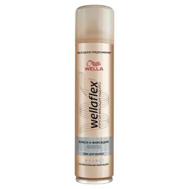 WELLA FLEX Лак д/волос Блеск и фиксация супер-сильной фикс. 400мл WF536/264/646