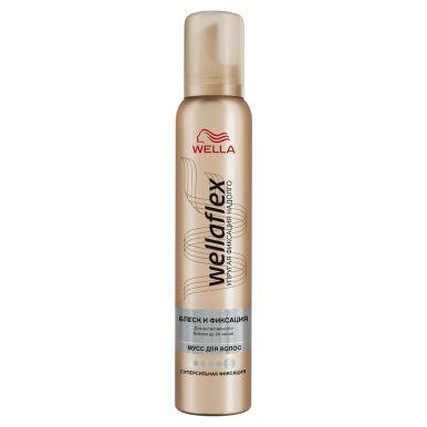 WELLA FLEX Пена д/волос Блеск и Фиксация супер-сильной фиксации  200ml WF216/374_