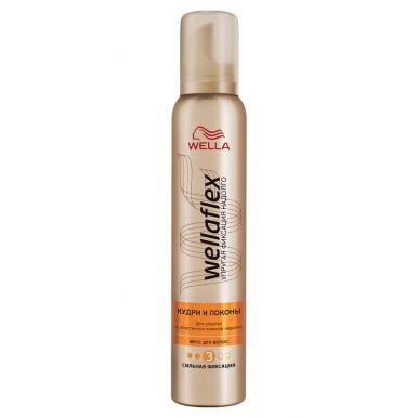 Wellaflex пена для волос Кудри и локоны сильной фиксации, 200 мл