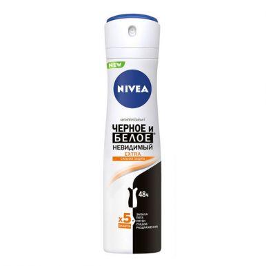 NIVEA Антиперспирант Нивея Черное и Белое Невидимый EXTRA 150 мл, спрей, артикул: 83486