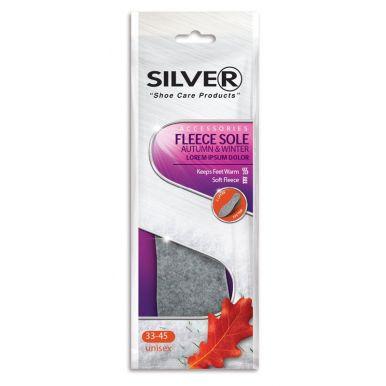 SILVER Стельки зимние с алюминиевой фольгой и шерстью