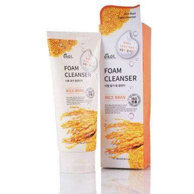 Ekel Пенка д/умывания Foam Cleanser Rice Bran (Коричневый рис) 180мл /Корея/539683_бл