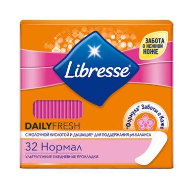 LIBRESSE ежедневные прокладки DAILYFRESH Normal с мол.кисл. 32шт