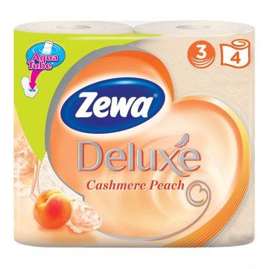 ZEWA DELUXE туалетная бумага 3-х слойная 4шт аромат. персик