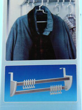 Вешалка на дверь для одежды крючки 12шт 12х13.5х55.5см арт.MAAG7578