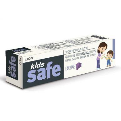 CJ LION Kids Safe Зубная паста детская Виноград (от 3-х до 12 лет), 90 гр