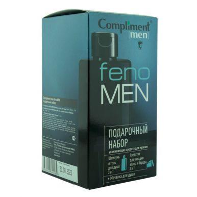 Compliment men Подарочный набор fenoMEN (Шампунь и гель для душа 3в1 320мл+Средство для укладки воло