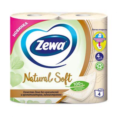 ZEWA NATURAL SOFT Туалетная Бумага 4-х сл. 4 рул.