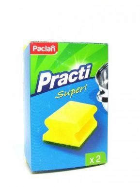 PACLAN Губка Practi д/посуды  2шт фигурная/5
