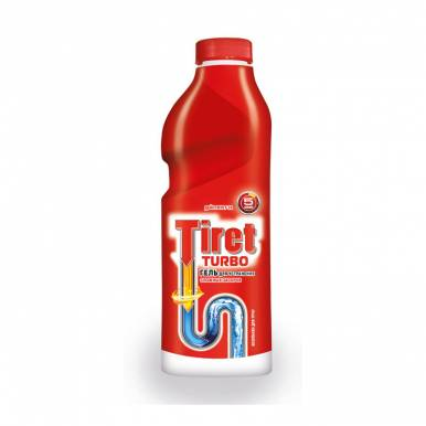 Tiret Turbo гель для устранения засоров, 1 л