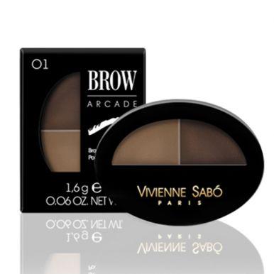 Vivienne Sabo тени для бровей двойные Eyebrow shadow Duo, тон 01, цвет: блонд
