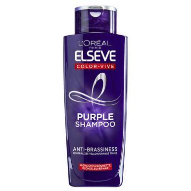 Elseve шампунь Эксперт Цвета Фиолетовый против желтизны, 200 мл