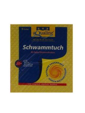 222530 Aqualine салфетка губчатая 5шт. 18х20 см. (255)