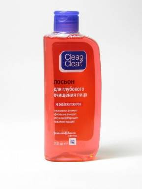 J&J Clean&Clear Очищающий лосьон для удаления загрязнения 200мл