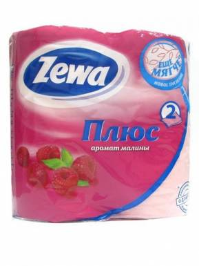 _ZEWA ПЛЮС туалетная бумага 2сл. 4шт розовая