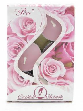 Набор чайных свечей ароматизированных, 6 шт, Роза, артикул: 001826