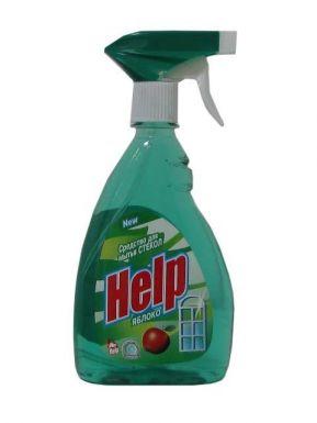 HELP средство для мытья стекол курок 500г Яблоко