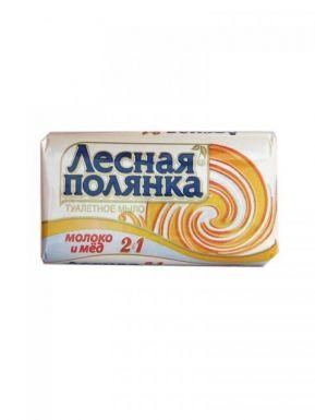 ЛЕСНАЯ ПОЛЯНКА туалетное мыло 2в1 Молоко и мед 90г/26112