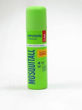 """MOSQUITALL Аэрозоль """"Универсальная защита"""" от комаров 150мл /10350"""