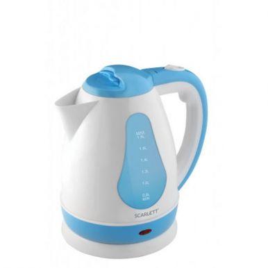Чайник SCARLETT, SC-EK18P29 (белый с голубым) 1.8л 1.7кВт