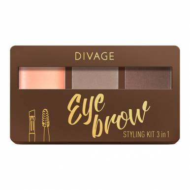 DIVAGE Набор для бровей с воском Eyebrow Styling Kit 3 in 1, №02 NEW