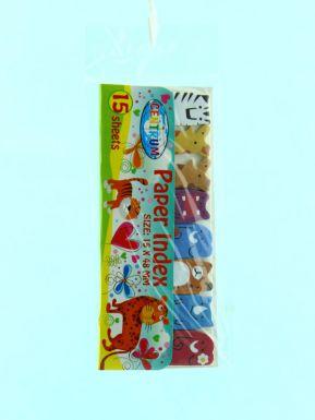 88549 Клейкие листки-индексы, бумажные, размер 48*15 мм, в индивидуальной упаковке с европодвесом