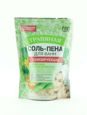 Народные рецепты Соль-пена для ванн Тонизирующая Травяная 200гр