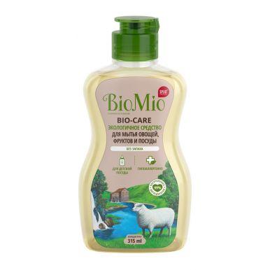BioMio Bio-Care средство для мытья посуды, овощей и фруктов без запаха, 315 мл