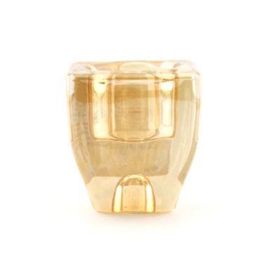 Подсвечник стеклянный, разм.6,4x4x7,3см, цв.золото ACC006050