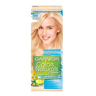 Garnier стойкая крем-краска для волос Color Naturals, тон 1000, Кристальный Ультраблонд, 110 мл