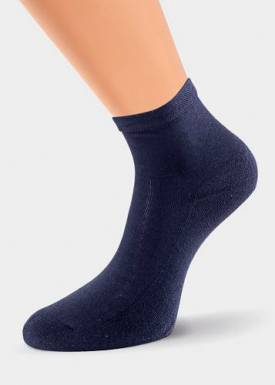 Носки женские КЛЕВЕР махровый след р.25 темно-синий  Д201М