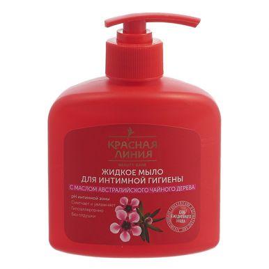Красная Линия Жидкое мыло для интимной гигиены  Масло Чайного дерева 250мл