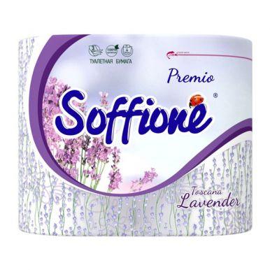 Soffione Туалетная бумага Премиум Тоскана Лаванда 3 слоя 4 рулона