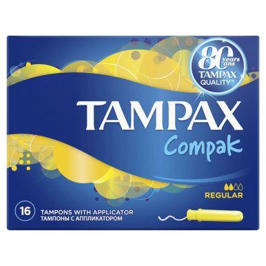 TAMPAX тампоны 16шт COMPAK REGULAR TM 116/383/589