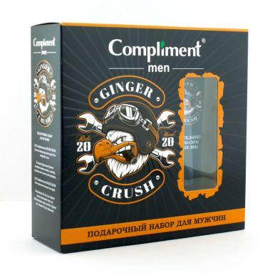 Compliment men Подарочный набор Ginger Crush  (Бодрящий пенящийся гель для тела и волос, 320 мл + Пр
