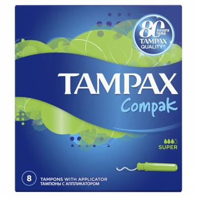 TAMPAX тампоны 8шт COMPAK SUPER  TM952