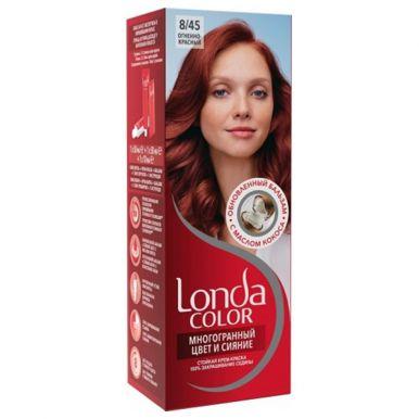 Londa Color стойкая крем-краска, тон для волос, тон 8/45 Огненно-красный