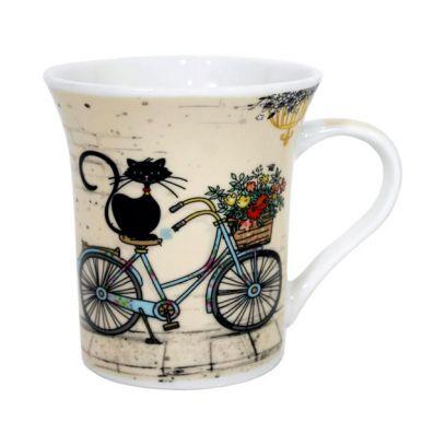 "Кружка 310 мл ""Котик на велосипеде ZPX415"